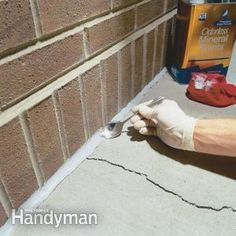 DIY: How To Caulk Cracks In Concrete - quick, easy and inexpensive maintenance project that will save you $$$ on future repairs.