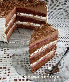 Torte Recepti, Kolaci I Torte, Torta Recipe, Mickey And Minnie Cake, Torte Cake, Croatian Recipes, Delicious Chocolate, No Bake Cake, Sweet Recipes