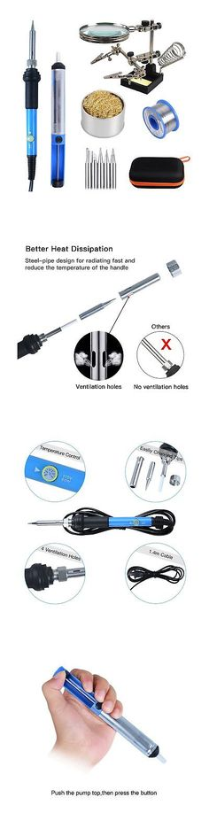 Welding and Soldering Tools 46413: Soldering Iron Kit Electronics 60W Adjustable Temperature Welding Tool Kit Wi... -> BUY IT NOW ONLY: $48.25 on eBay!