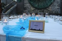 Head table with Chicago Area table numbers, Wedding at Pazzo's Chicago Area, Event Lighting, Chicago Wedding, Great Memories, Table Numbers, Wedding Centerpieces, Special Events, Affair, Entertaining