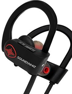Wireless Bluetooth Running Headphones SoundWhiz Noise Cancelling Waterproof Workout Earbuds  w Mic  Siri >>> Read more reviews of the product by visiting the link on the image.