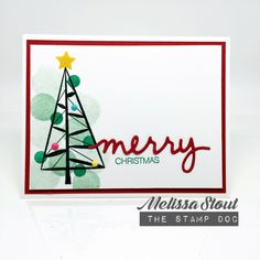 Stampin' UP! Twinkle Trees by Melissa Stout
