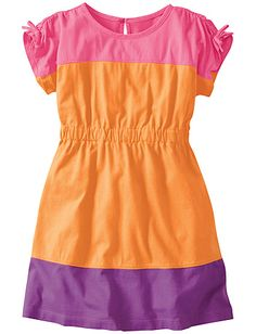 Colorblock Dress from Hanna Andersson | #kidsfashion