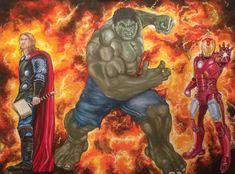 Avengers, Fine Art, Artwork, Painting, Work Of Art, Painting Art, The Avengers, Paintings, Visual Arts
