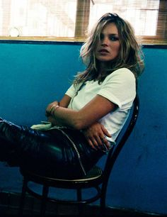 "Kate Moss in ""Noir"" by Craig McDean for W Magazine June 2004"