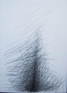 Reconstrução, grafite sobre papel, 70x60