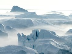 What it is: A fjord in western Greenland, 155 miles north of the Arctic Circle. It includes Sermeq Kujalleq, one of the most active glaciers in the world.