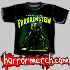 Frankenstein - Electric Chair Shirt And Girls Babydoll (Glows In The Dark) at Horrormerch.com