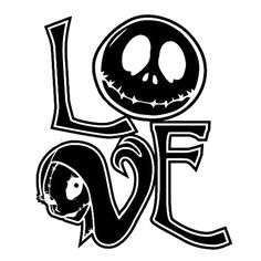 Love Jack Die Cut Vinyl Decal PV1132 Disney Home Decor, Jack Skellington, Darth Vader, Decal, Sticker