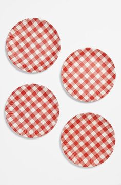 Gingham Melamine Plates (Set of 4) available at #Nordstrom