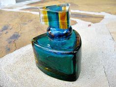 Vintage Art Glass Perfume Bottle Ocean Blues by ToadSuckTreasures, $30.00