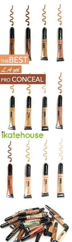 LA.girl Pro Conceal Provides complete, natural-looking coverage, evens skin tone, covers dark circles and minimizes fine lines around the eyes.  http://www.ikatehouse.com/la-girl-conceal.html