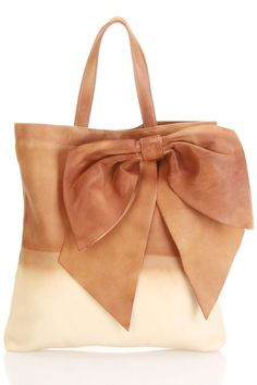 Beautiful peach ombre bow bag. Valentino $655. Guess I'll just look.