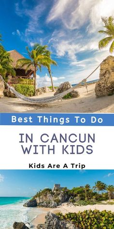 If you are planning a Mexico family vacation, why not head to Cancun? With amazing adventures, beautiful beaches, and historical sites, there are endless Cancun activities for families. Here are some of the best things to do in Cancun with kids. - Kids Are A Trip Mexico Vacation, Cruise Vacation, Mexico Travel, Puerto Vallarta, Cozumel, Riviera Maya, Cancun Activities, Road Trip With Kids, México City