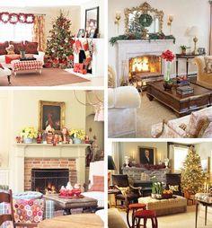 christmas fireplace mantel decoration