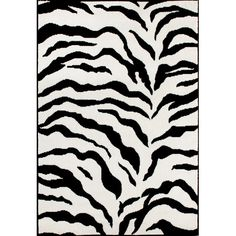 Found it at Wayfair - Earth Zebra Print Black & Ivory Area Rug http://www.wayfair.com/daily-sales/p/Small-Space-Dorm-Furniture-Earth-Zebra-Print-Black-%26-Ivory-Area-Rug~NLO2157~E21288.html?refid=SBP.rBAZEVVyPNETkDcuIq4EAhnSeWt0pkptgw3OS31rJRg