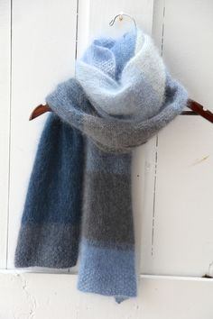 ColorPlay Scarf knitted by Italian Dish Knits in Rowan Kidsilk Haze yarn