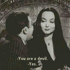 Gomez And Morticia. The Addams Family.You can find The addams family and more on our website.Gomez And Morticia. The Addams Family. Morticia Addams, Gomez And Morticia, Adams Family Morticia, Die Addams Family, Addams Family Quotes, The Addams Family 1964, Citations Film, Carolyn Jones, Film Quotes