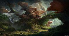 https://www.artstation.com/artwork/fungal-overgrowth