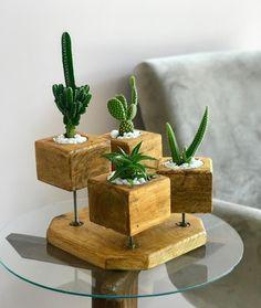 Wood Shop Projects, Woodworking Projects Diy, House Plants Decor, Plant Decor, Wood Planters, Planter Boxes, Deco Nature, Deco Originale, Diy Pallet Furniture