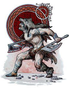 """I Berserkir erano inarrestabili guerrieri, spinti alla battaglia da una furia inaudita. Spesso sono descritti al fianco di Odino, come suoi fidati combattenti. Il loro nome, Berserkir, significa """"guerrieri dalla pelle d'orso"""", mentre sono citati talvolta anche gli Ulfhednar, i """"guerrieri dalla testa di lupo"""". - MEET MYTHS -"""