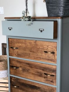 Looking for a unique way to upycle your chest of drawers? check out the before and after photos to see this painted dres Cheap Furniture Makeover, Diy Furniture Renovation, Furniture Fix, Upcycled Furniture, Furniture Storage, Furniture Design, Bedroom Furniture Makeover, Funky Furniture, Chest Of Drawers Makeover