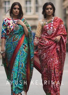 Kala Ksetram — Patola saree by Ayush Kejriwal Indian Attire, Indian Wear, Indian Outfits, Indian Dresses, Indian Clothes, Indian Silk Sarees, Ikkat Silk Sarees, Indian Beauty Saree, Ethnic Fashion