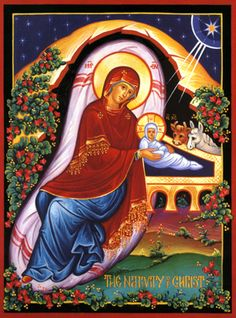 Byzantine Icon of the Nativity