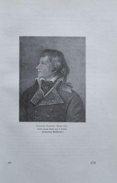 GENERAL GOUVION SAINT-CYR 1914 Porträt alter Druck antique Print Lithographie