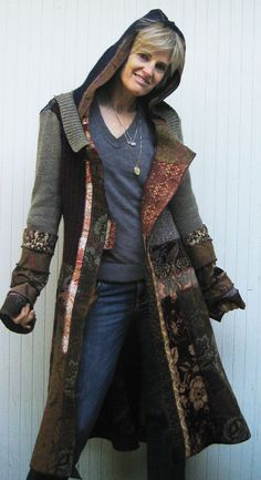 Gypsy medieval multi fabric ethnic coat by norakdesign on Etsy, $625.00