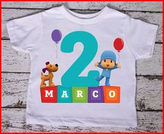 Pocoyo Personalized Birthday tee shirt by WeeWhimsytutusandtee, $15.00