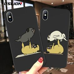 Cartoon Phone Case For iPhone X Xs Max XR XS Funny Yoga Dog Pattern Ca – elegantonlinemarket Iphone 7 Plus, Iphone 6, Iphone Cases, Cartoon Dog, Cute Cartoon, Iphone Leather Case, Dog Pattern, Yoga Dog, Iphone Models
