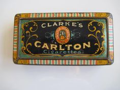 Excited to share the latest addition to my #etsy shop: Clarke's Carlton Cigarette Tin (50/empty) by W.M.Clarke & Son c.1900 http://etsy.me/2BWtJok #vintage #collectables #cigarettetin #tobaccocollectibles