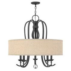 Dining room ...Hinkley H4473TB Marion Drum Pendant Pendant Light - Textured Black