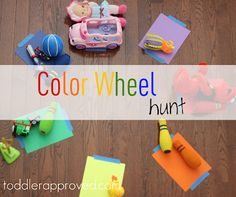 A fun and easy way to do color sorting, talk about shapes, and get bodies moving! What other things do you like to hunt for?