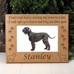 Schnauzer Memorial Dog Frame