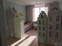 🌟Tante S!fr@ loves this📌🌟Cabinets as a room divider Boy And Girl Shared Room, Little Girl Bedrooms, Big Girl Rooms, Scandinavian Kids Furniture, Diy Kids Furniture, Baby Bedroom, Kids Bedroom, Bedroom Decor, Leopard Room