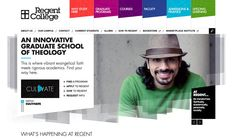 Regent College's new site is client-centric, mobile friendly, incredibly versatile and has both first-class functionality and lots of personality.