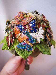 Butterfly Brooch Bouquet