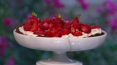 Jordbærtærte med mascarponecreme