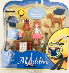 La Petite Madeline and Genevieve Puppy Dog Playset Doll 15 Pieces New 2003 #Madeline #DollswithClothingAccessories