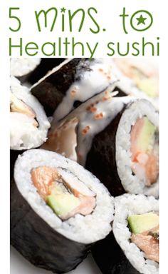 Healthy Sushi Recipe in 5 minutes - super fast, fun & delicious!