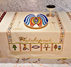 Judy Chicago (American, b. 1939). The Dinner Party (Hatshepsut place setting), 1974–79. Mixed media: ceramic, porcelain, textile. Brooklyn Museum, Gift of the Elizabeth A. Sackler Foundation, 2002.10. © Judy Chicago. Photograph by Jook Leung Photography