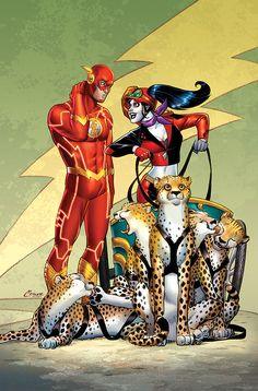 Flash and Harley. collection-of-harley-quinn-variant-cover-art4