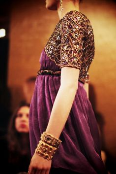 Love the jewels and the purple from this Byzantine inspired Chanel Pre-fall 2011 collection! #byzantium