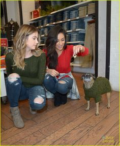 Shay Mitchell & Ashley Benson Have Holiday Shopping Spree At American Eagle Outfitters: Photo #903784. Shay Mitchell and Ashley Benson get close together for a fun selfie during their holiday shopping excursion at American Eagle Outfitters in Hollywood on Tuesday…