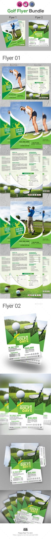 Golf Tournament Flyer Bundle Template PSD, InDesign INDD