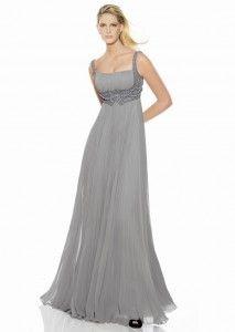 Sheathy grey ball gown.