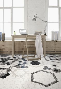 what a fun tile floor!