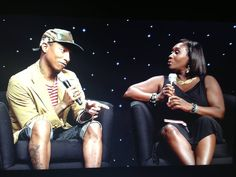 """Pharrell Williams talks about the i am OTHER movement, why he loves working with women, and future projects in this """"Genius Talk"""" at the BET Experience, (hosted by Bevy Smith)  Watch Pharrell's Genius Talk here: http://www.bet.com/video/betawards/2013/bet-experience/exclusives/genius-talks-pharrell-williams.html"""